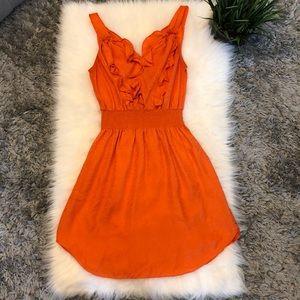 Rebecca Taylor Silk Orange Dress